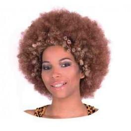 Afro brązowe