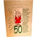 Dyplom z okazji 50 urodzin