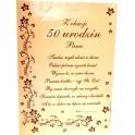 Dyplom z okazji 50 urodzin Pana